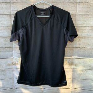 MEC | Black Athletic V neck shirt
